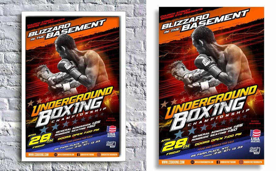 Proposition n°43 du concours Design a Poster for a Boxing Event on April 28