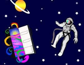 #5 for Adobe illustrator - Astronaut flying away from Refrigerator with random things flying out by sonalfriends86