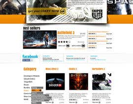 Nro 6 kilpailuun Website Design for CDKEY Warehouse for interspire shopping cart käyttäjältä hipnotyka