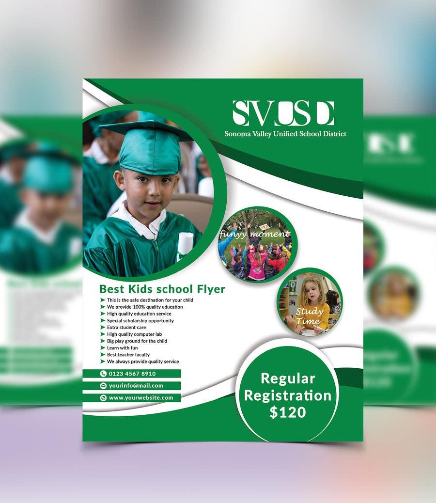 Proposition n°80 du concours Education Preschool and Kindergarten Registration Flyer