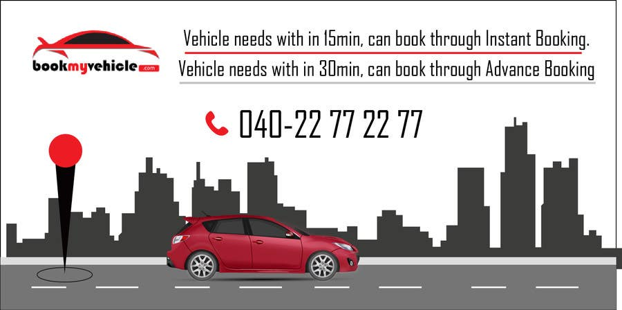 Entry #15 by thmdesign for Design Banners for a Cab Booking Portal