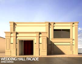 nº 11 pour design a building(wedding hall) facade par ahmdhammad