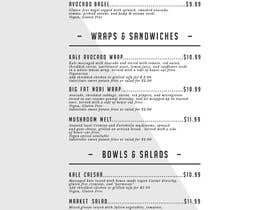 nº 2 pour Restaurant Food and Drink Menu par Bendricks