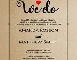 #5 para Design a Wedding Invite de ArefinIslam02