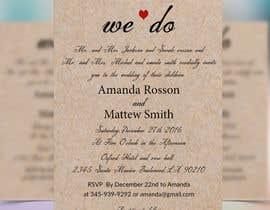 #17 para Design a Wedding Invite de alifakonjee
