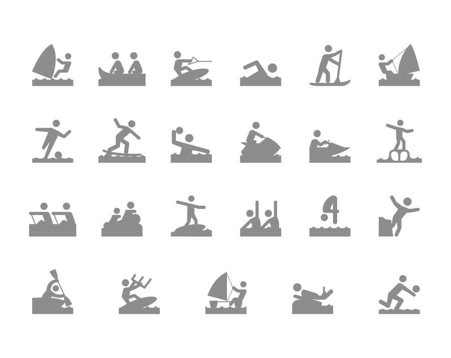 Proposition n°2 du concours Design Icon Set (Surf, Ocean, Coast Inspired)