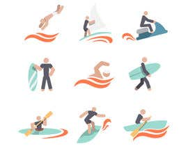 nº 6 pour Design Icon Set (Surf, Ocean, Coast Inspired) par babarhossen