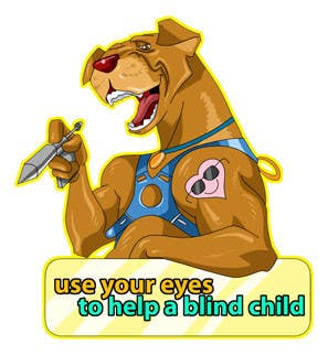 #23 for Cartoon illustration for charity: Use your eyes to help a blind child by ramadhiansanjaya
