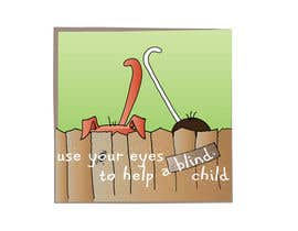 #28 para Cartoon illustration for charity: Use your eyes to help a blind child por misutase