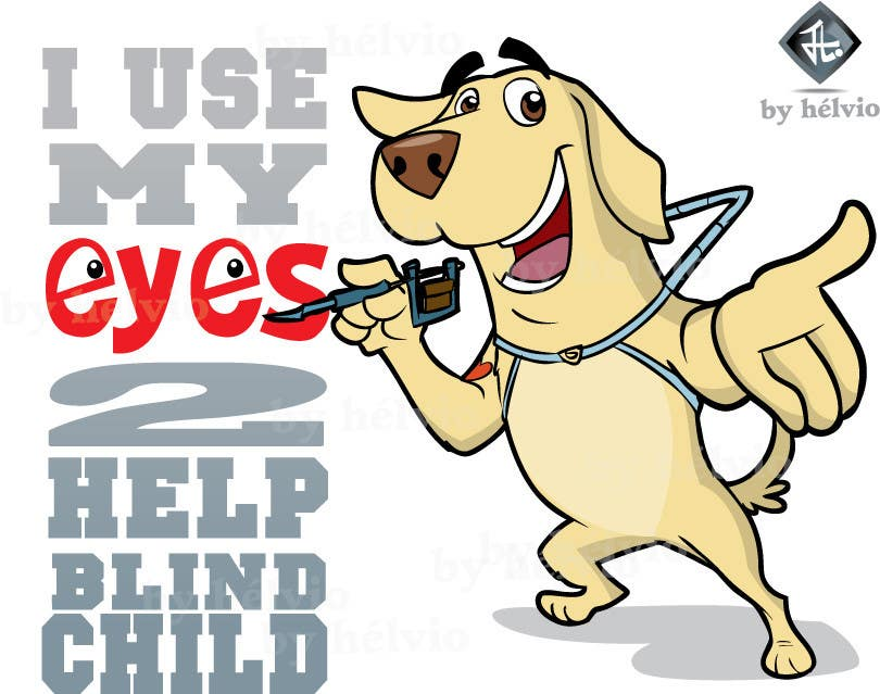 #30 for Cartoon illustration for charity: Use your eyes to help a blind child by helvioavelar