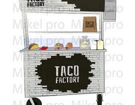 nº 11 pour Design a cartoon/logo of a foodtruck par mikelpro