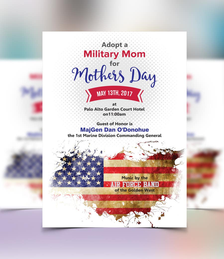 Proposition n°7 du concours Military Mothers Day Flyer Template