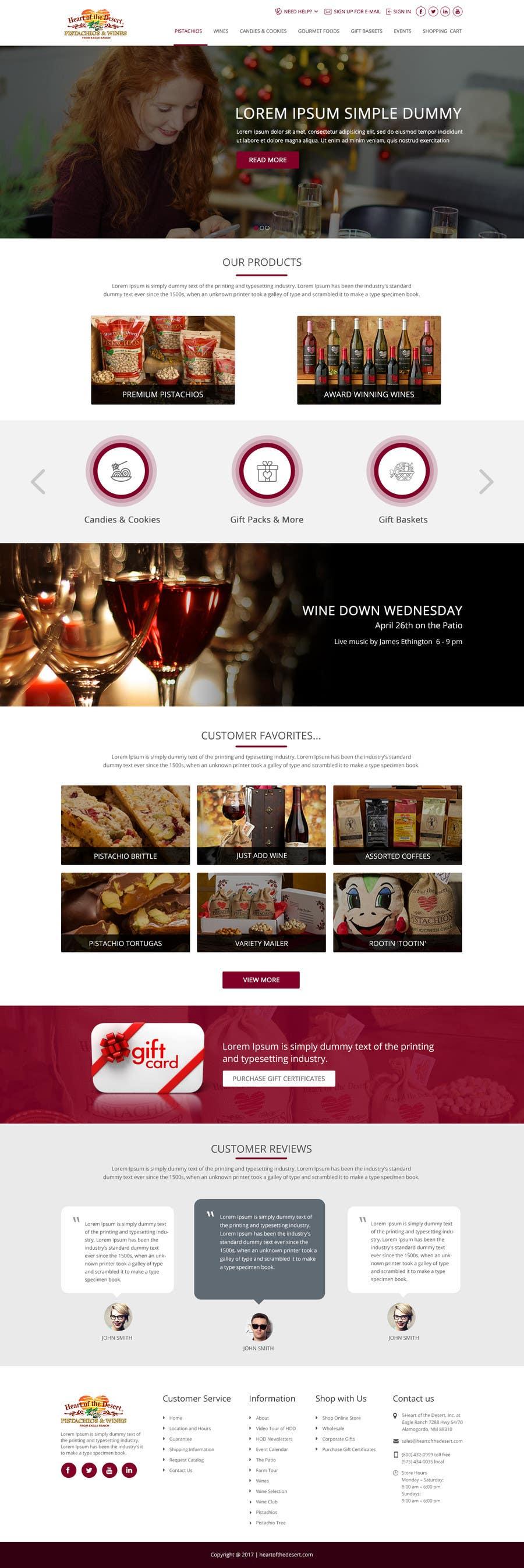 Proposition n°1 du concours Design a Website Mockup for E-commerce Site