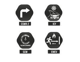 nº 25 pour Re-Design 4 Icons for Driving / Road Signs par bpsodorov