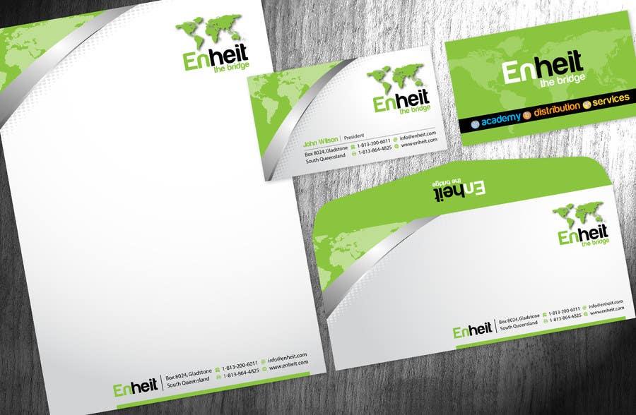 Penyertaan Peraduan #                                        14                                      untuk                                         Letterhead, business card and envelop package design for Enheit