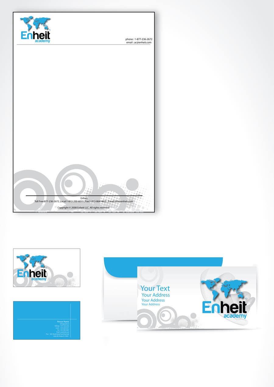Bài tham dự cuộc thi #                                        8                                      cho                                         Letterhead, business card and envelop package design for Enheit
