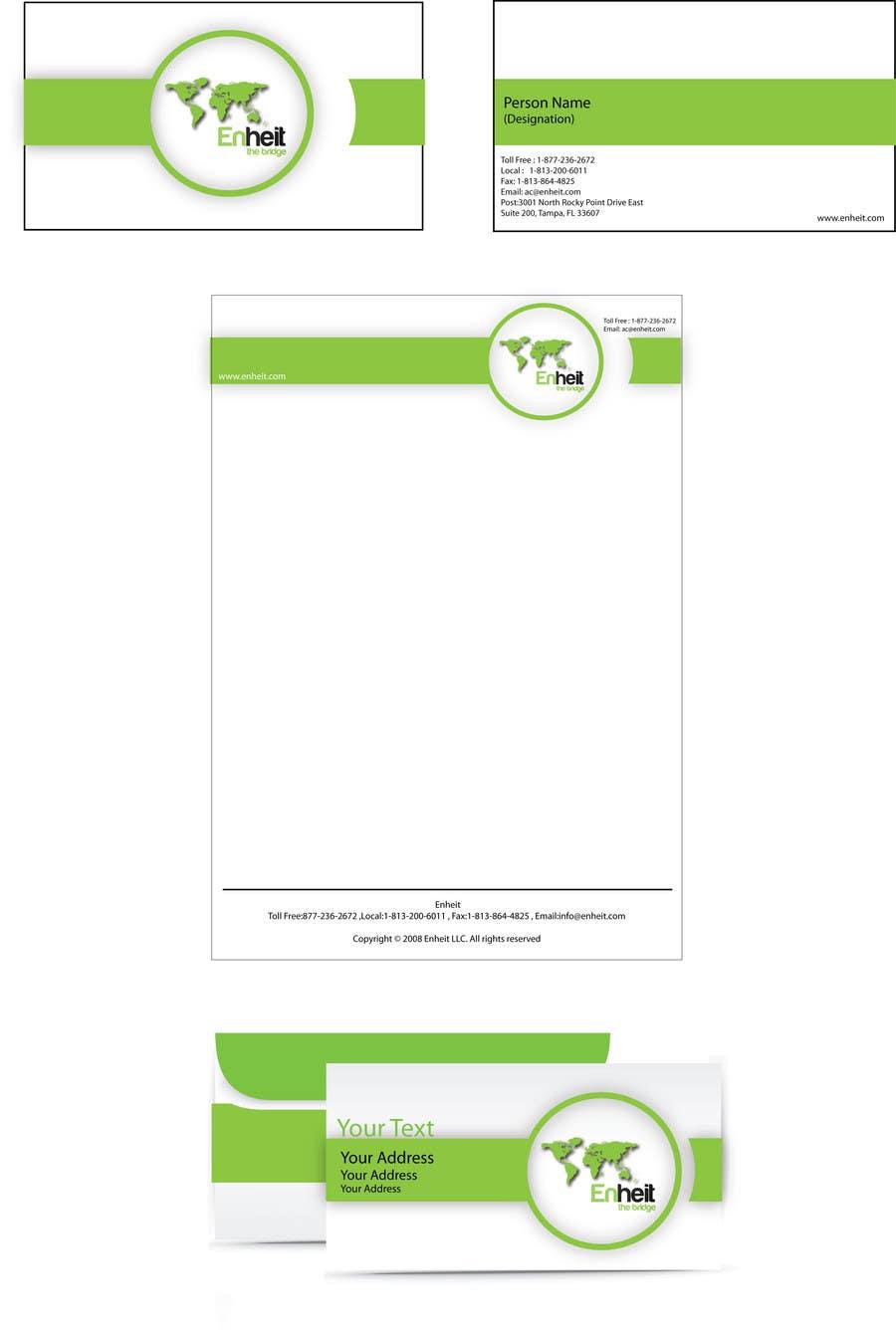 Penyertaan Peraduan #                                        12                                      untuk                                         Letterhead, business card and envelop package design for Enheit