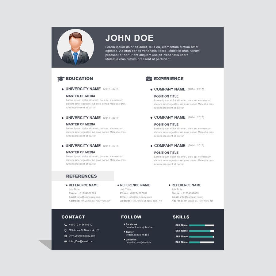 Proposition n°8 du concours i need some design for my resume