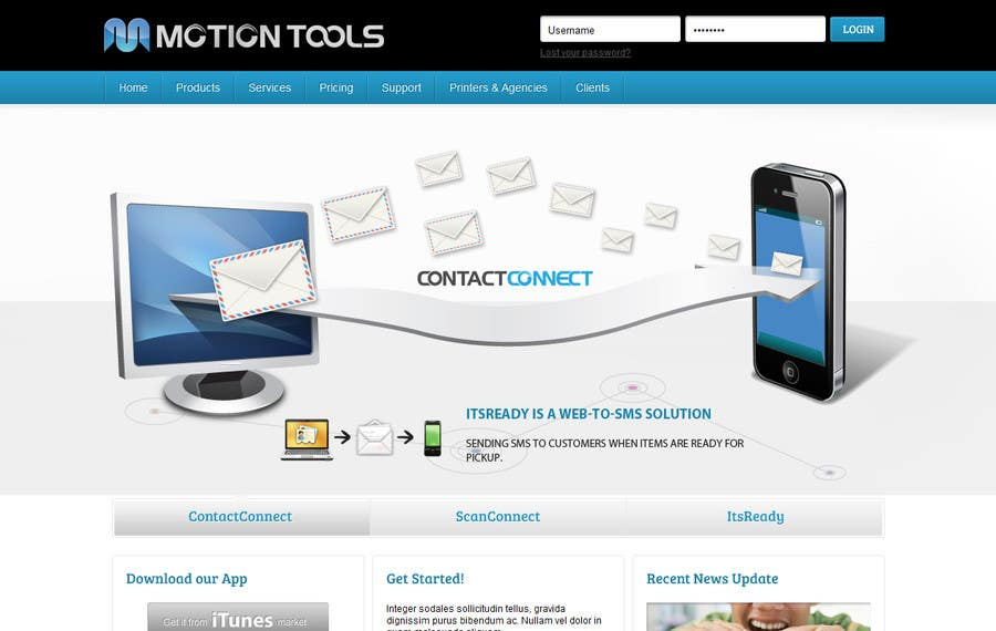 #23 for Photoshop Design for MotionTools Website by ANALYSTEYE