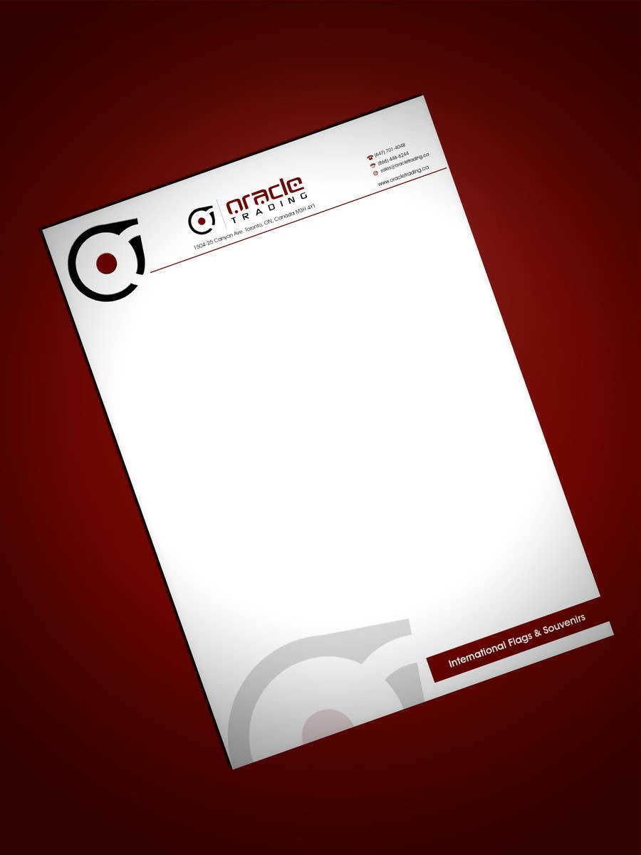 Entry 184 by lihia for business card letterhead design for oracle contest entry 184 for business card letterhead design for oracle trading inc colourmoves