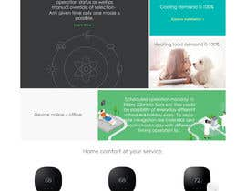Nro 1 kilpailuun Design a webpage represent a wifi enabled  thermostat with unique and creative symbols and air conditioning icons/buttons and animations käyttäjältä parikhan4i