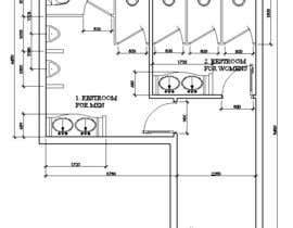 nº 3 pour Restrooms design (Autocad) par chuvanhaicdt2k52