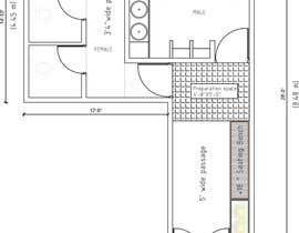 nº 2 pour Restrooms design (Autocad) par Rafiur2454
