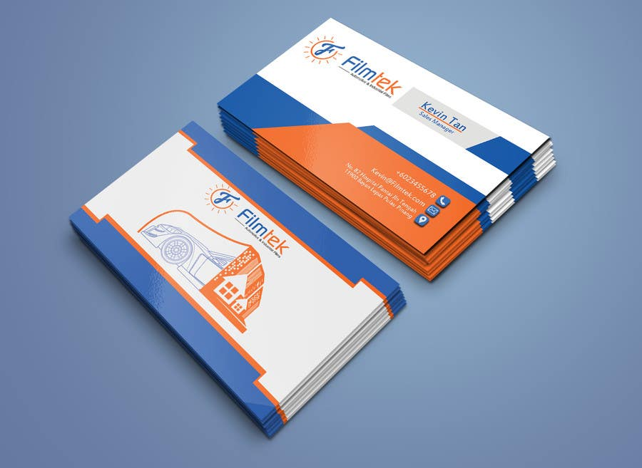 Proposition n°165 du concours Design some Business Cards For Automotive and Instrial Film COmpany