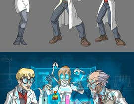 nº 49 pour Illustrate 3 Characters of 3 Scientists in a Lab par ajvdw