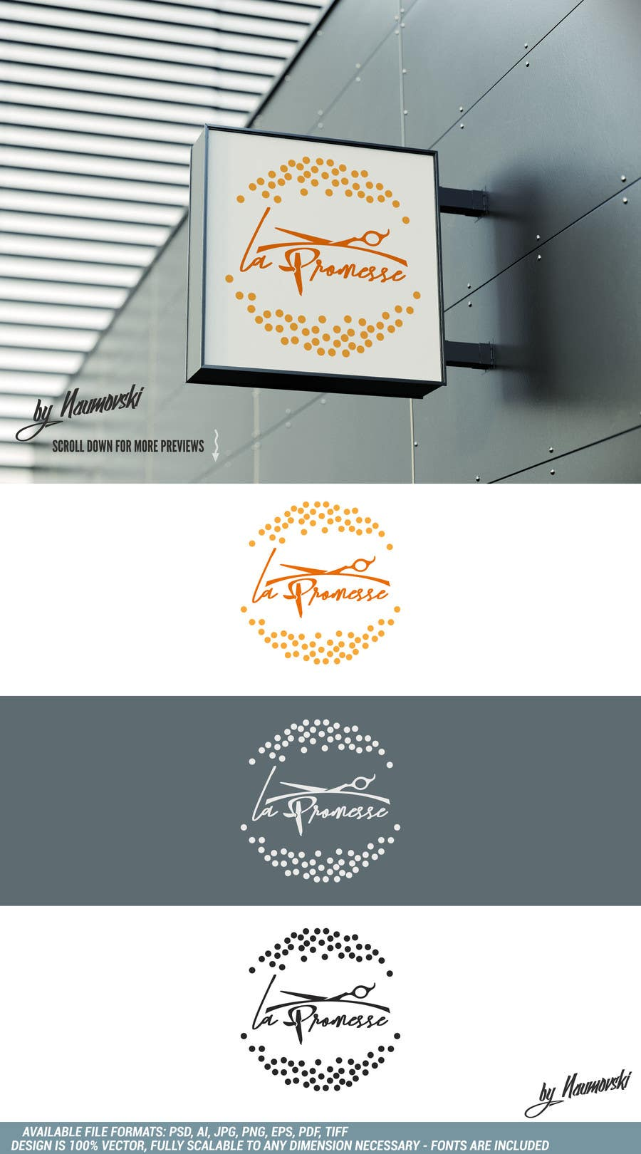 Entry 44 By Naumovski For Concevez Un Logo Salon De Coiffure