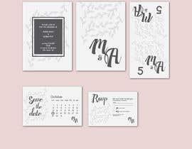 Nro 5 kilpailuun Design a modern Wedding invitation template set käyttäjältä farfalli