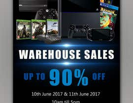 #21 for Design a Flyer for Video Games Warehouse Sales. by hectorver