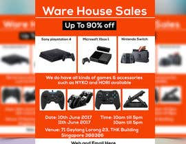 #39 for Design a Flyer for Video Games Warehouse Sales. by nazmulgraphics14