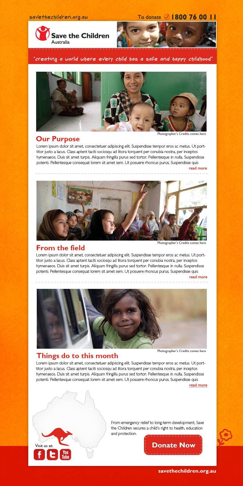 Konkurrenceindlæg #47 for HTML Email for Save the Children Australia