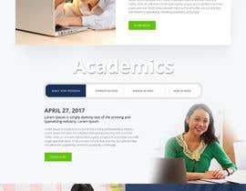nº 66 pour Design a Website Mockup for International School par webmastersud