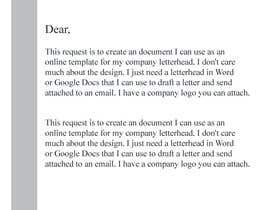 nº 5 pour Create letterhead  in Word or Google Docs par jhfahim