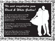 Graphic Design Kilpailutyö #15 kilpailuun Design an Invitation for a cool Black and White Party, printable