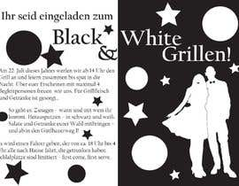 Nro 25 kilpailuun Design an Invitation for a cool Black and White Party, printable käyttäjältä remisv
