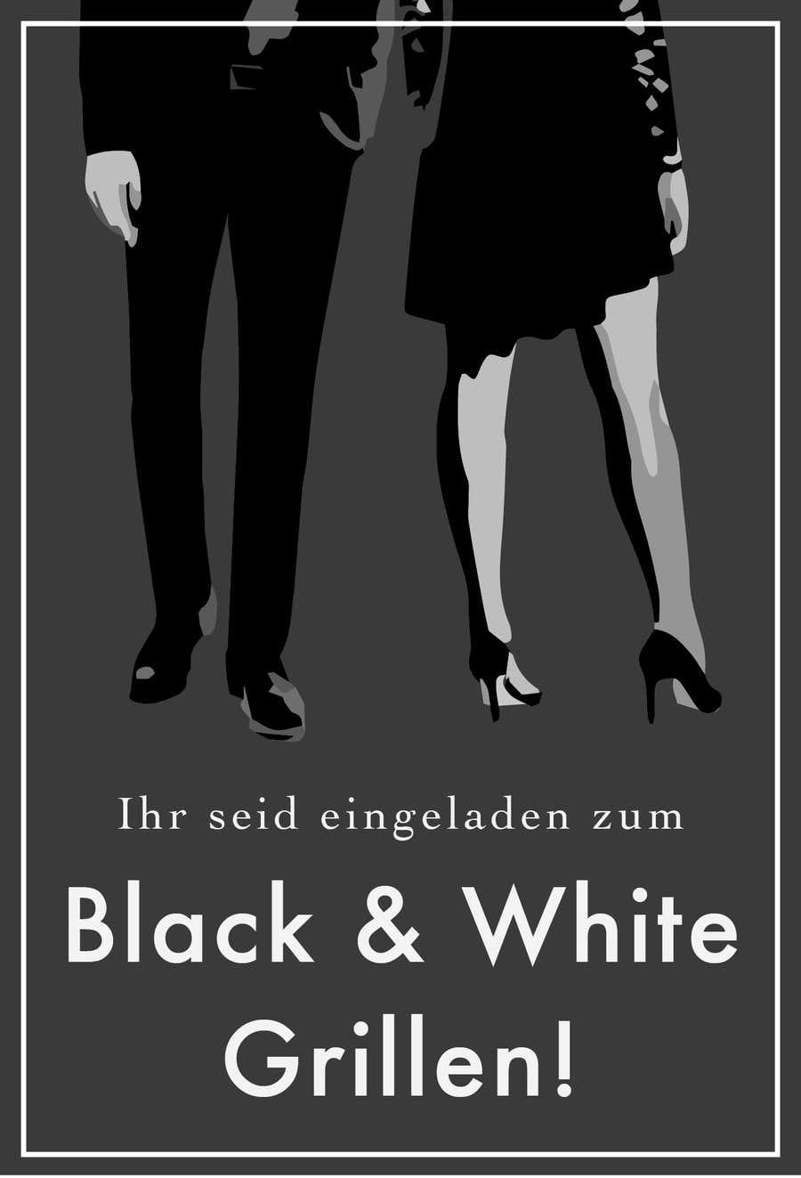 Kilpailutyö #39 kilpailussa Design an Invitation for a cool Black and White Party, printable
