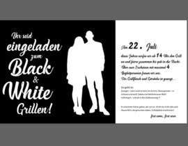 #29 for Design an Invitation for a cool Black and White Party, printable by chandrabhushan88