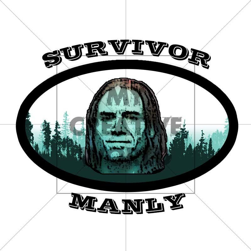 """Proposition n°5 du concours Logo with cartoon version of pic , for """"Survivor Manly"""""""