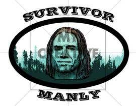 "nº 5 pour Logo with cartoon version of pic , for ""Survivor Manly"" par mycreativeworld1"