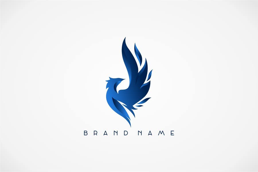 Proposition n°20 du concours I need a blue phoenix to represent my brand