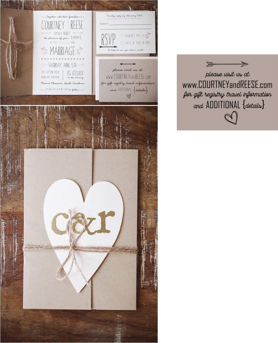 Proposition n°1 du concours Wedding Details Card