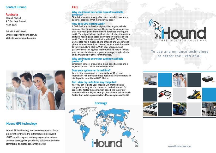 Konkurrenceindlæg #                                        19                                      for                                         Design a Brochure for iHound
