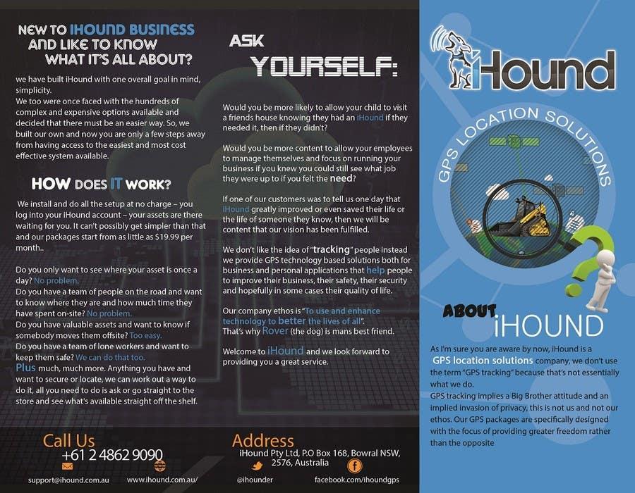 Konkurrenceindlæg #                                        8                                      for                                         Design a Brochure for iHound