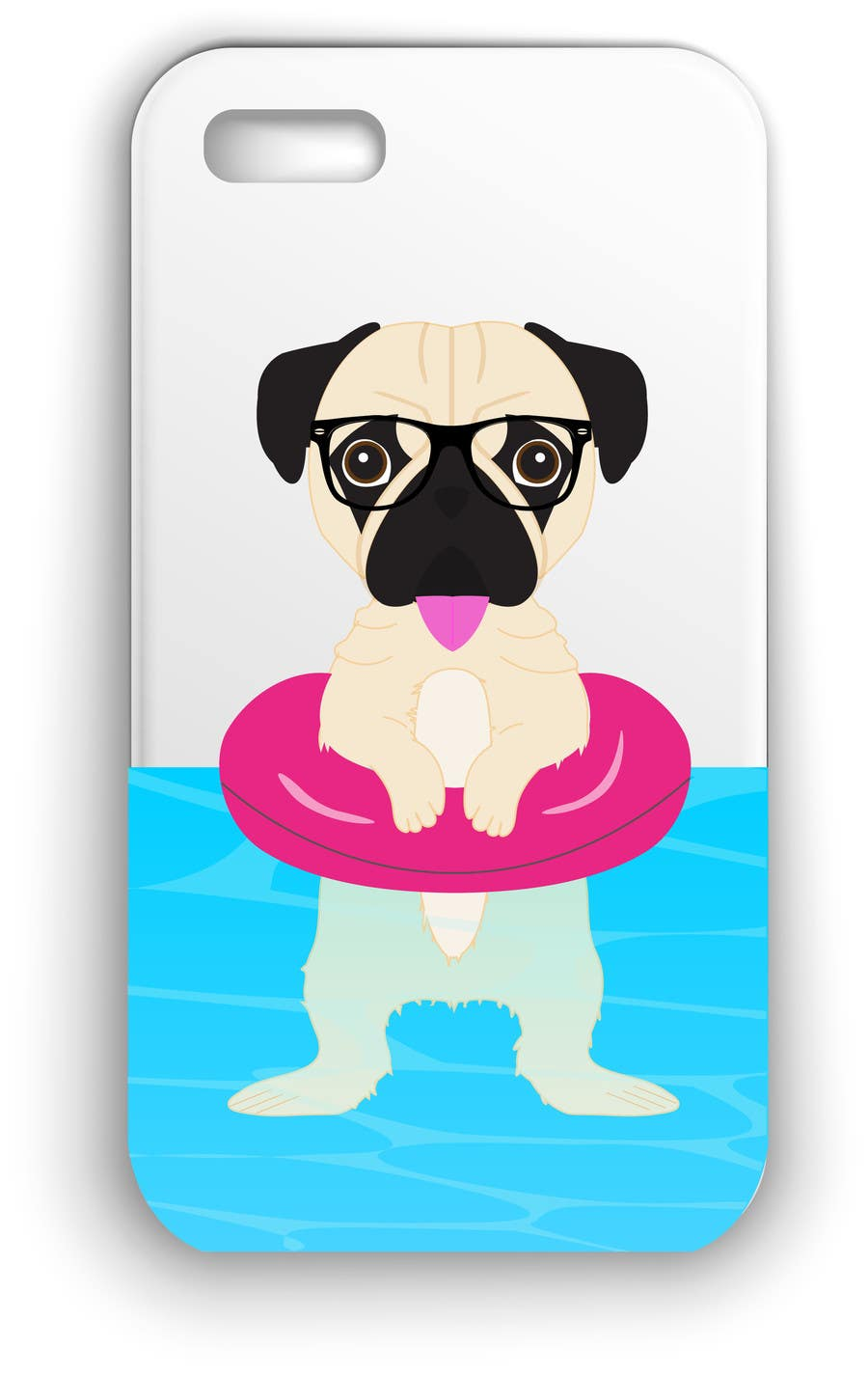 Proposition n°15 du concours Swimming Pug Illustration Required