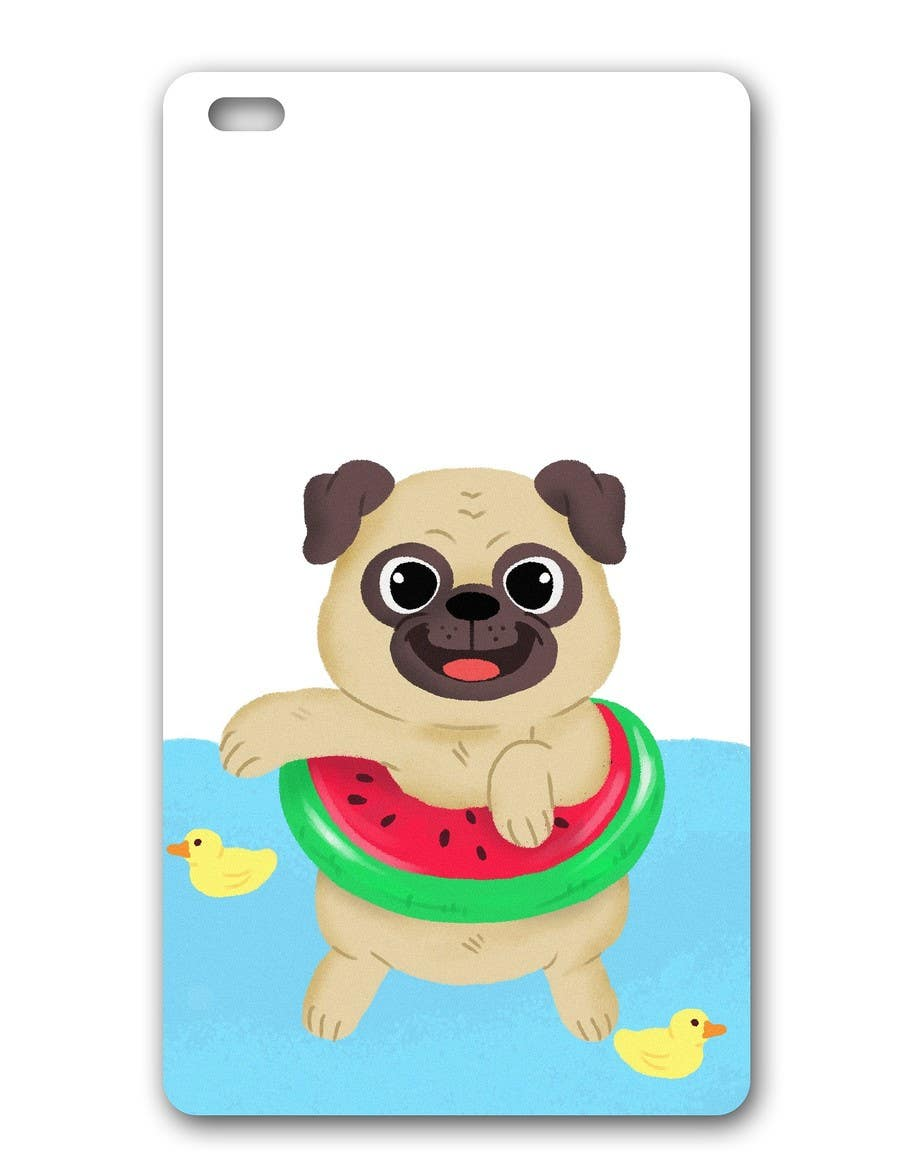 Proposition n°6 du concours Swimming Pug Illustration Required