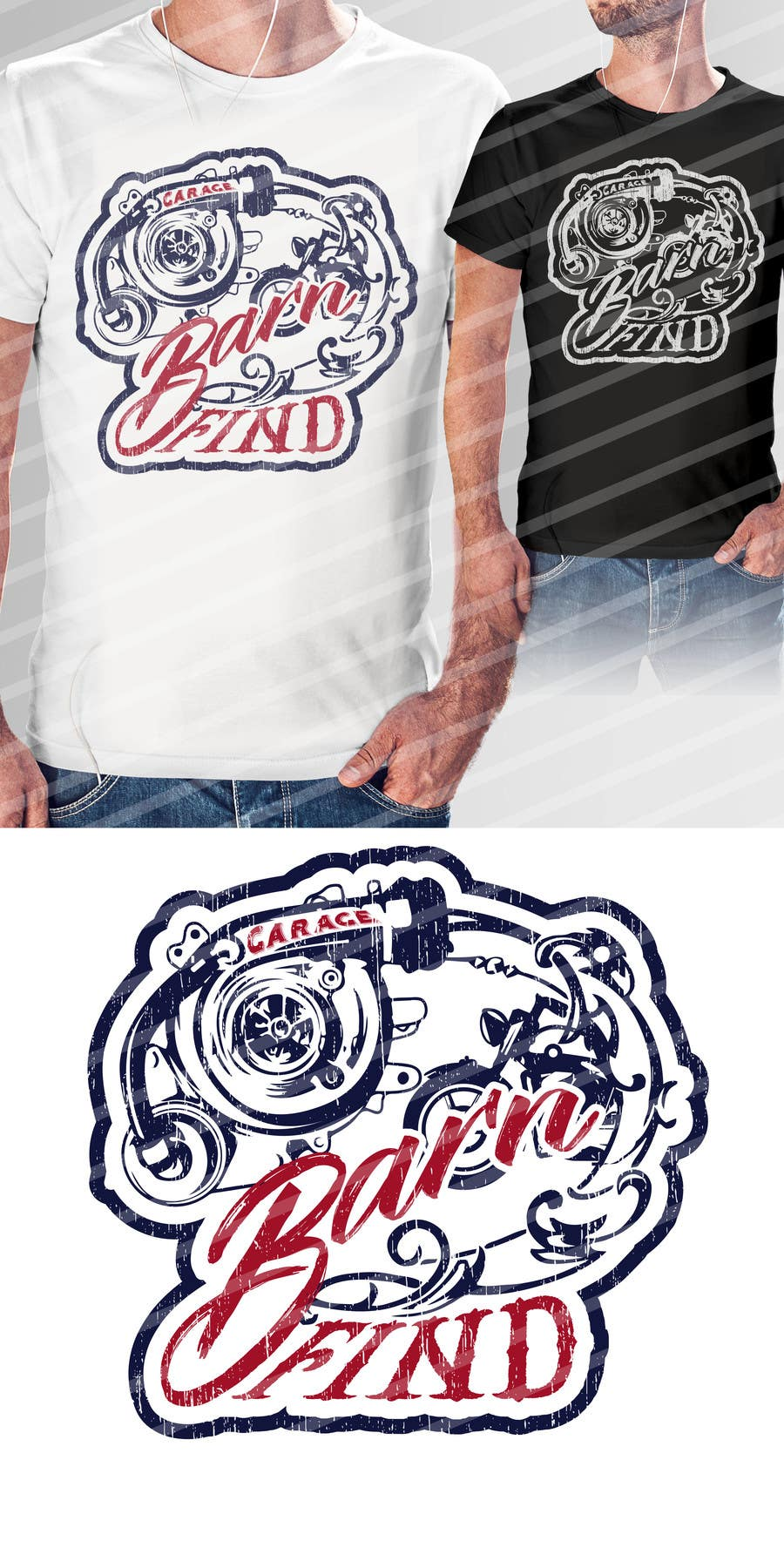 Kilpailutyö #10 kilpailussa t-shirt design for classic car and motorcycle restoration brand
