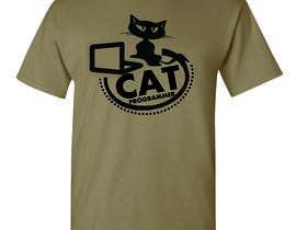 """nº 8 pour T-shirt design """"Cat-programmer"""" par azmantony74"""